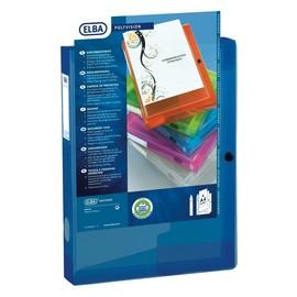 Sammelbox polyvision A4 mit Sichttasche 250x40x333mm für 400Blatt blau Elba 100200140 Produktbild
