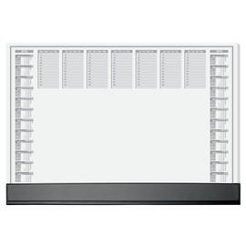 Schreibunterlage Office mit 2-Jahres-, Tages- und Wochenplan schwarze Schutzleiste 41x59,5cm Sigel HO365 Produktbild