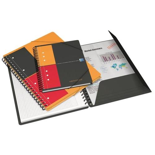 Meetingbook Oxford International A5+ liniert 10fach Lochung Doppelspirale 80Blatt 80g Optik Paper weiß 100103453 Produktbild