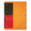 Meetingbook Oxford International A5+ liniert 10fach Lochung Doppelspirale 80Blatt 80g Optik Paper weiß 100103453 Produktbild Additional View 1 S