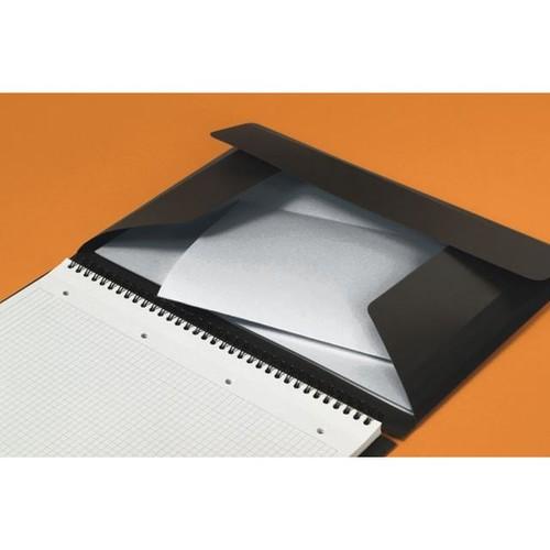 Meetingbook Oxford International A5+ kariert 10fach Lochung Doppelspirale 80Blatt 80g Optik Paper weiß 100102104 Produktbild Additional View 1 L