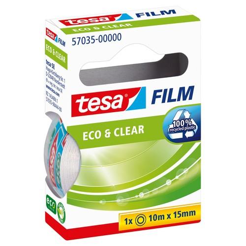 Klebefilm Eco & Clear 15mm x 10m transparent klar Tesa 57035-00000-00 (RLL=10 METER) Produktbild Additional View 1 L
