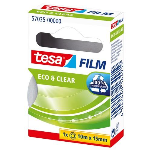Klebefilm Eco & Clear 15mm x 10m transparent klar Tesa 57035-00000-00 (RLL=10 METER) Produktbild Additional View 2 L