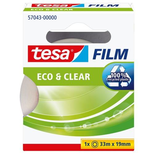 Klebefilm Eco & Clear 19mm x 33m transparent klar Tesa 57043-00000-00 (RLL=33 METER) Produktbild