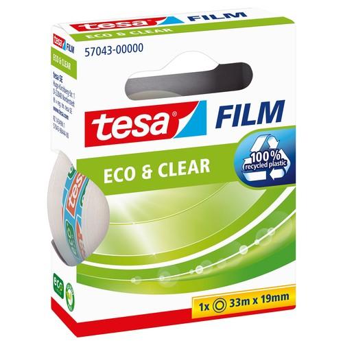 Klebefilm Eco & Clear 19mm x 33m transparent klar Tesa 57043-00000-00 (RLL=33 METER) Produktbild Additional View 1 L