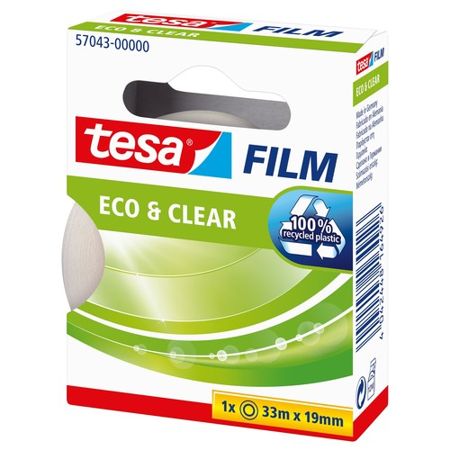 Klebefilm Eco & Clear 19mm x 33m transparent klar Tesa 57043-00000-00 (RLL=33 METER) Produktbild Additional View 2 L