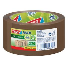 Klebeband Tesapack Eco & Strong 50mm x 66m braun recyceltem PP Tesa 58154-00000-00 Produktbild