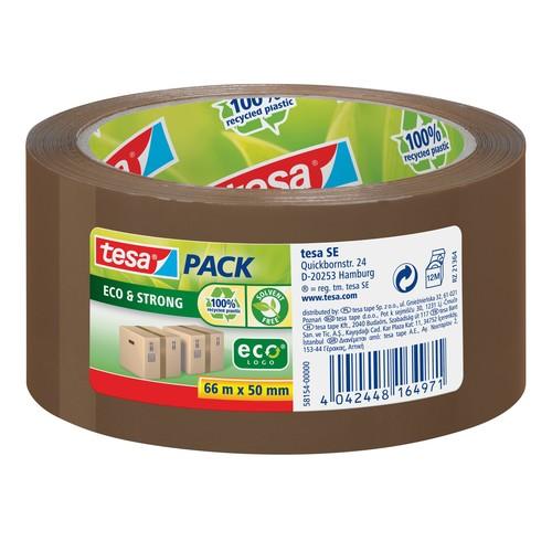 Klebeband Tesapack Eco & Strong 50mm x 66m braun recyceltem PP Tesa 58154-00000-00 Produktbild Front View L