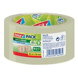Klebeband Tesapack Eco & Strong 50mm x 66m transparent recyceltem PP Tesa 58153-00000-00 Produktbild