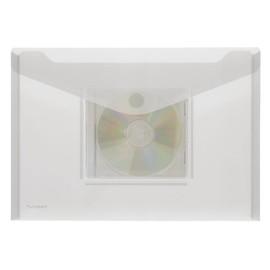 Dokumententasche A4 mit Klettverschluss und CD-Fach farblos PP FolderSys 40131-04 (PACK=10 STÜCK) Produktbild