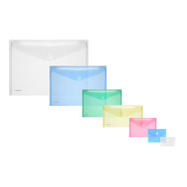 Dokumententasche mit Klettverschluss A6 farblos PP FolderSys 40116-04 (PACK=10 STÜCK) Produktbild