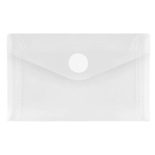 Visitenkartentasche mit Klettverschluss 105x65mm farblos PP FolderSys 40119-10 (PACK=10 STÜCK) Produktbild Front View L