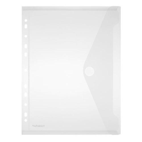 Dokumententasche A4 mit Abheftrand farblos PP FolderSys 40106-04 (PACK=10 STÜCK) Produktbild