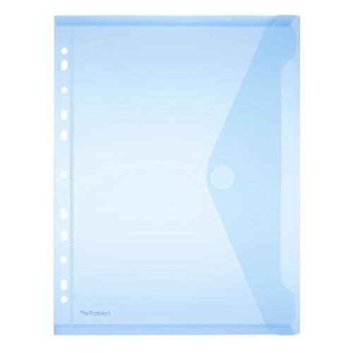 Dokumententasche A4 mit Abheftrand farbig sortiert PP FolderSys 40106-94 (PACK=10 STÜCK) Produktbild Additional View 1 L