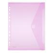 Dokumententasche A4 mit Abheftrand farbig sortiert PP FolderSys 40106-94 (PACK=10 STÜCK) Produktbild Additional View 4 S