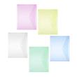 Dokumententasche A4 mit Abheftrand farbig sortiert PP FolderSys 40106-94 (PACK=10 STÜCK) Produktbild Additional View 5 S