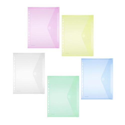 Dokumententasche A4 mit Abheftrand farbig sortiert PP FolderSys 40106-94 (PACK=10 STÜCK) Produktbild Additional View 5 L