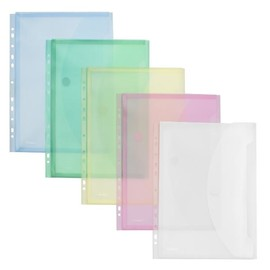 Dokumententasche A4 mit Abheftrand und Dehnfalte bis 20mm farbig sortiert PP FolderSys 40109-94 (PACK=10 STÜCK) Produktbild