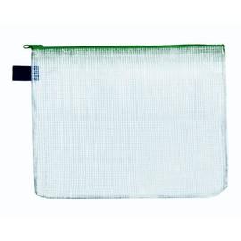Reißverschlusstasche B4 grün faserverstärktes PVC Foldersys 40401-50 (PACK=10 STÜCK) Produktbild