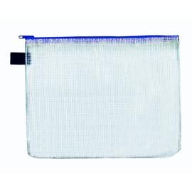 Reißverschlusstasche A4 blau faserverstärktes PVC Foldersys 40402-40 (PACK=10 STÜCK) Produktbild