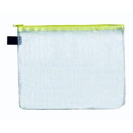 Reißverschlusstasche A5 gelb faserverstärktes PVC Foldersys 40404-60 (PACK=10 STÜCK) Produktbild