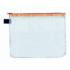 Reißverschlusstasche A6 orange faserverstärktes PVC Foldersys 40406-69 (PACK=10 STÜCK) Produktbild