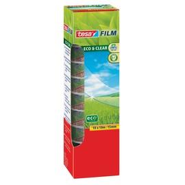 Klebefilm Eco & Clear 15mm x 10m transparent klar Tesa 57070-00000-00 (PACK=10 ROLLEN) Produktbild