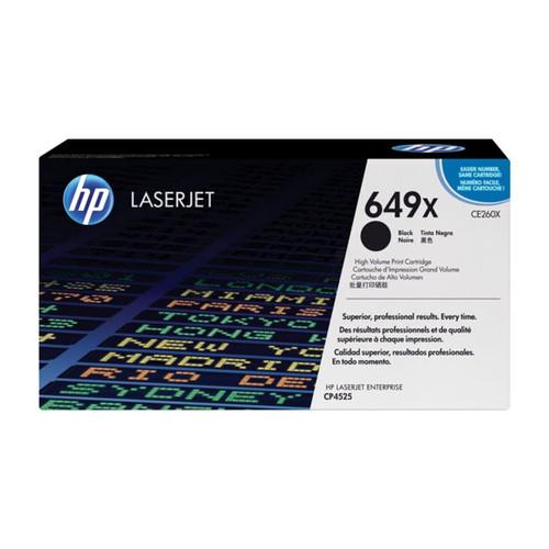 Toner 649X für Color Laserjet CP4525/CM4540 17000Seiten schwarz HP CE260X Produktbild Front View L