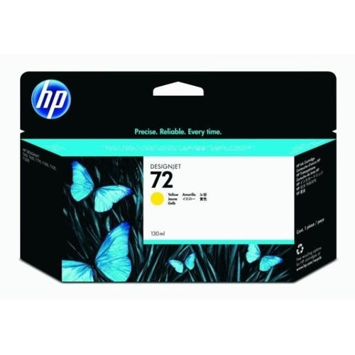 Tintenpatrone 72 für HP DesignJet T1100/T610 130ml yellow HP C9373A Produktbild Front View L