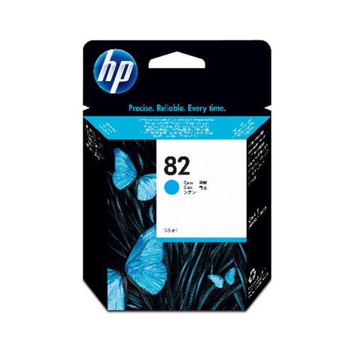 Tintenpatrone 82 für HP DesignJet 500/510 28ml cyan HP CH566A Produktbild Front View L