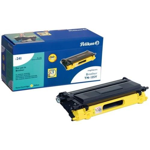 Toner Gr. 1241 (TN-135Y) für DCP-9040CN/9042CDN 5147Seiten yellow Pelikan 4204844 Produktbild Front View L