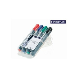 Permanentmarker Lumocolor 352 Etui 2mm Rundspitze sortiert wasserfest Staedtler 352WP4 (PACK=4 STÜCK) Produktbild
