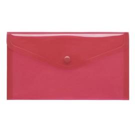 Dokumententasche DIN lang mit Druckknopf rot-transparent PP FolderSys 40913-84 (PACK=10 STÜCK) Produktbild