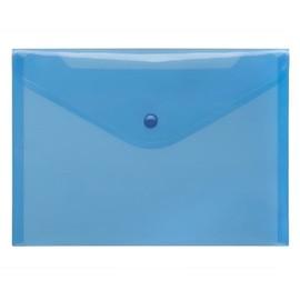 Dokumententasche A5 mit Druckknopf blau-transparent PP FolderSys 40912-44 (PACK=10 STÜCK) Produktbild