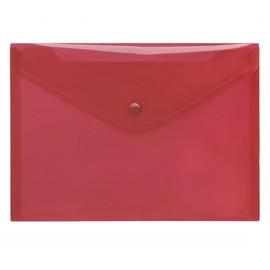 Dokumententasche A5 mit Druckknopf rot-transparent PP FolderSys 40912-84 (PACK=10 STÜCK) Produktbild