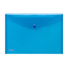 Dokumententasche A4 mit Druckknopf blau-transparent PP FolderSys 40111-44 (PACK=10 STÜCK) Produktbild