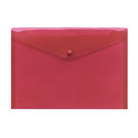 Dokumententasche A4 mit Druckknopf rot-transparent PP FolderSys 40111-84 (PACK=10 STÜCK) Produktbild