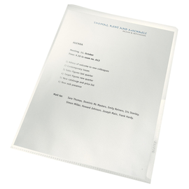 Sichthüllen Recycle oben + rechts offen A4 130µ PP genarbt Leitz 4001-00-03 (PACK=100 STÜCK) Produktbild