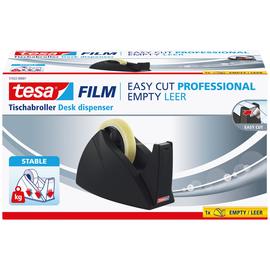 Tischabroller Easy Cut leer füllbar bis 25mm x 66m schwarz Tesa 57422-00001-01 Produktbild