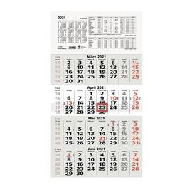 Viermonatskalender 2021 33x63,5cm hellgrau/weiß Zettler 959-0011 Produktbild