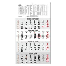 Viermonatskalender 2022 33x59cm hellgrau/weiß Zettler 959-0011 Produktbild
