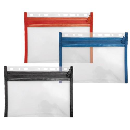 Reißverschlusstasche Velobag XXS zum Abheften 220x160mm rot PP Veloflex 4350020 Produktbild Additional View 1 L
