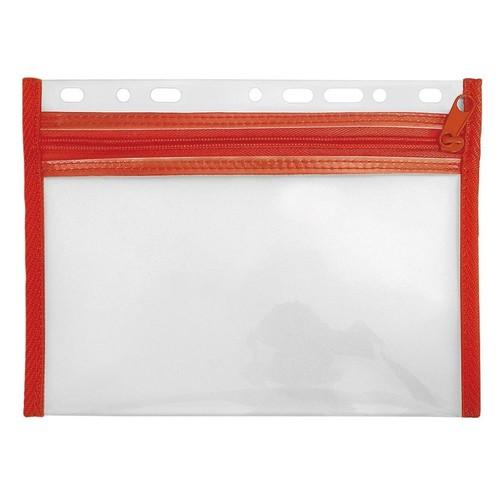 Reißverschlusstasche Velobag XXS zum Abheften 220x160mm rot PP Veloflex 4350020 Produktbild