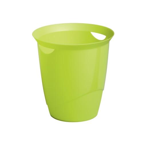 Papierkorb mit Tragegriffen TREND 16l grün Durable 1701710020 Produktbild Front View L