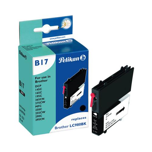 Tintenpatrone Gr. 1521 (LC-980BK) für DCP145C/DCP165C 10ml schwarz Pelikan 4107558 Produktbild Front View L