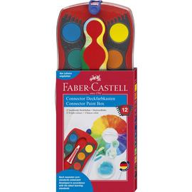 Malkasten Connector 12 Farben rot Faber Castell 125030 Produktbild