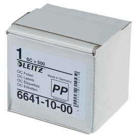 Schutzfolienschilder Orgacolor auf Rolle 72x39mm transparent selbstklebend Leitz 6641-10-00 (SCH=500 STÜCK) Produktbild