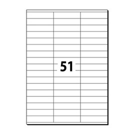 Etiketten Inkjet+Laser+Kopier 70x16,9mm auf A4 Bögen weiß 5932 (PACK=5100 STÜCK) Produktbild