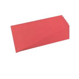 Trennstreifen TRAPEZ gelocht 120x230mm rot recycling Karton Herlitz 10837565 (PACK=100 STÜCK) Produktbild