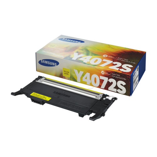 Toner Y4072S Samsung für CLP320/325/ CLX3180 1000Seiten yellow SU472A Produktbild Front View L